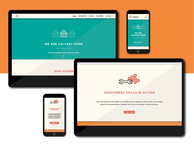 Calvary Home for Children Site Redesign