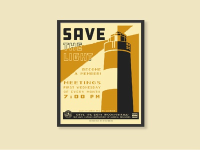 WPA Save the Light Poster