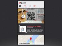 QR code reader app concept