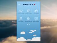 Air France application concept