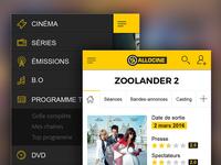 Movie & TV show app concept