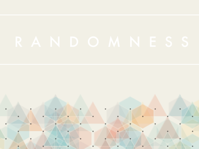Random poster processing random geometric triangle hexagon