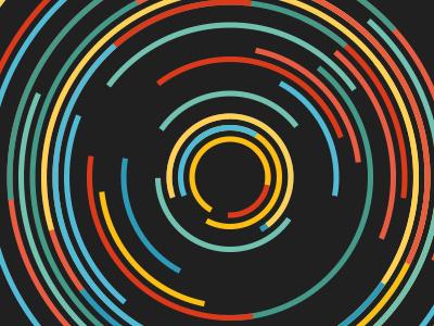 Circles circles processing generative