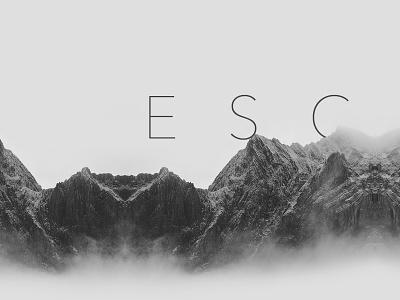 Escape wallpaper mountain bw