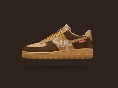 What If ?  Nike Air Force 1s X louis vuitton X Supreme NYC mashup collab customsneakers sneakers sneakerhead shoes newyork supreme vuitton louis nike
