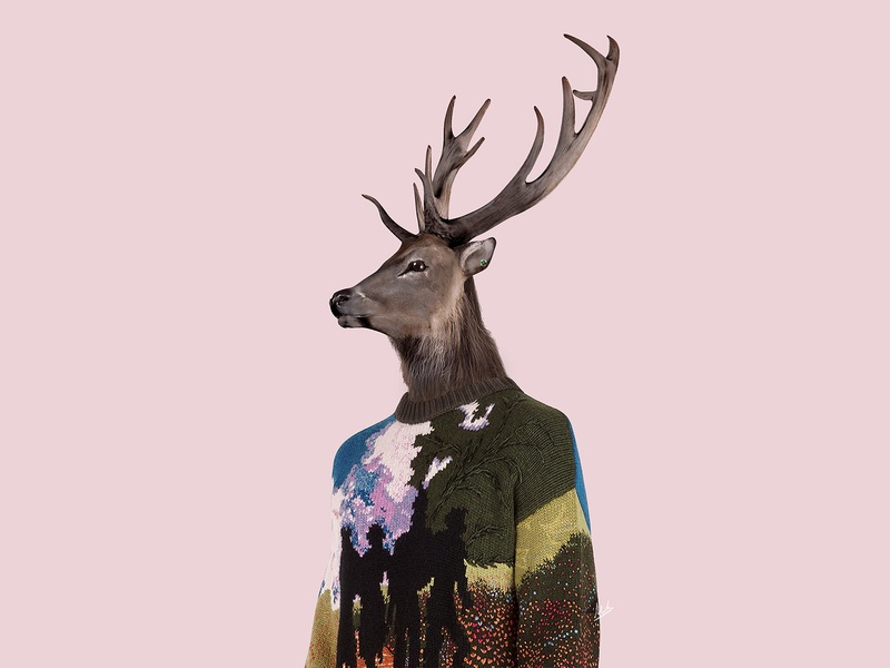 The Reindeer abstract art photoshop art virgil abloh louis vuitton abstract design abstraction abstract composition