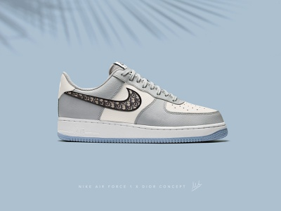 Nike AirForce 1 x Dior photoshop custom sneakers custom sneaker art sneakerhead nike dior composition sneakers shoes