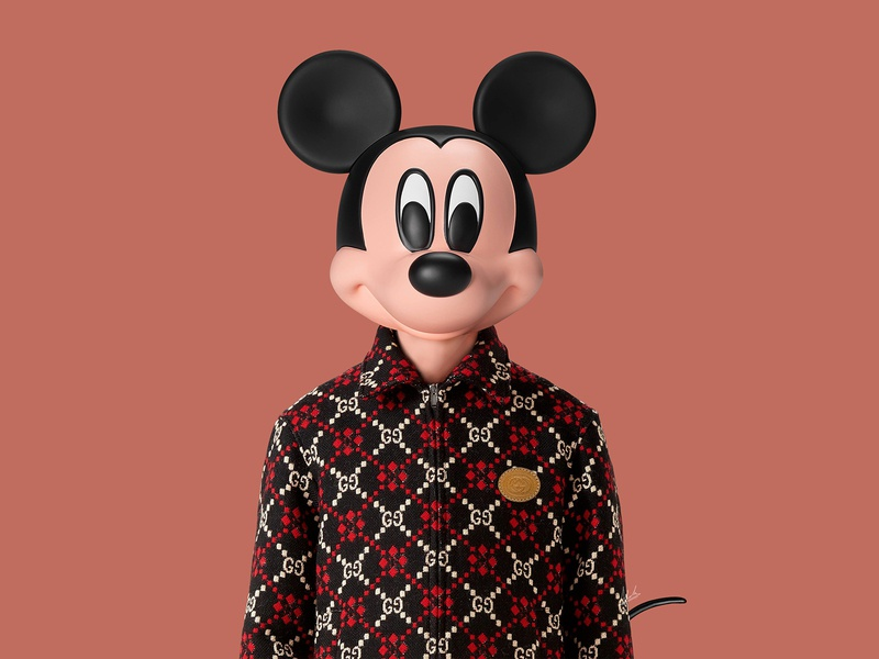Composition inspired by @disney x @gucci collection abstraction photoshop art photoshop disney art disney mickey mickeymouse gucci branding abstract abstract art abstract design composition