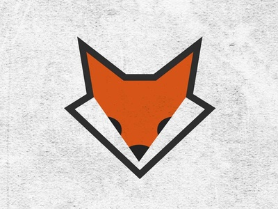 Logo Fox merchandising branding abstract illustrator photoshop watercolor spots geometric shapes fox