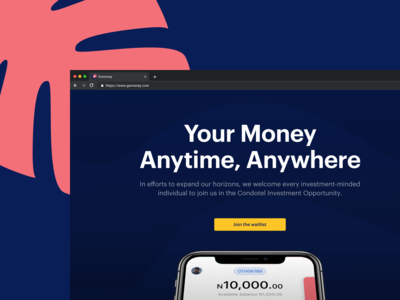 Gomoney Marketing Landing Page (Option 1)