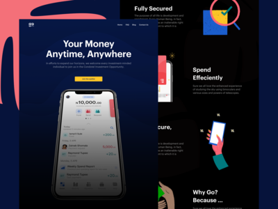 Gomoney Marketing Landing Page (Option 1)