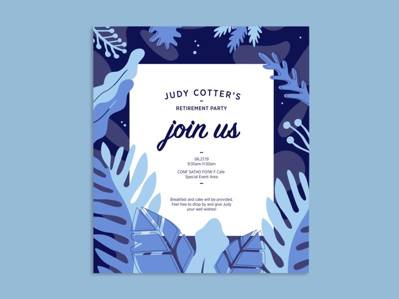 Invitation vector design blue invitation illustraion