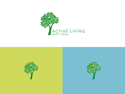 Yoga logo trees nature yoga vector design logo illustration icon graphic design branding brand