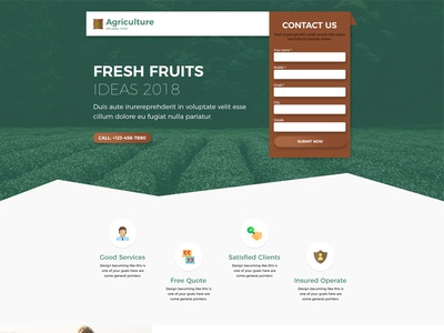 Agriculture Landing Page
