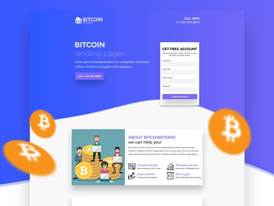 Bitcoin Landing page