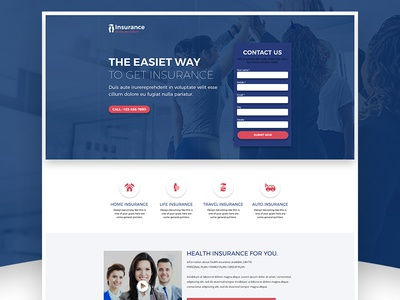 Insurance Health & Life Care Landing Page