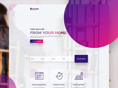 Work From Home Landing Page