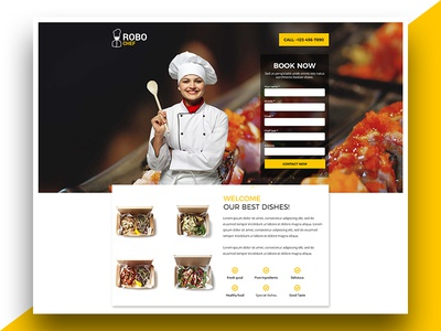 Chef Landing Page