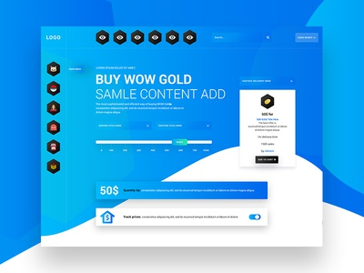Buy Wow Gold Ecommerce Page