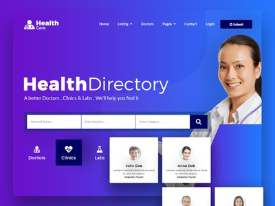 Health Car Directory Template