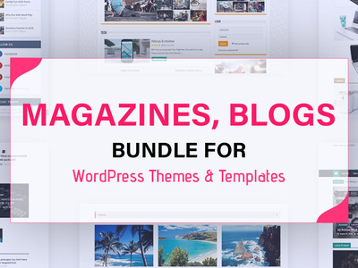 Bundles of Magazines, Blogs Home pages for Wordpress