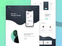 Creative Landing Page | Create Studio