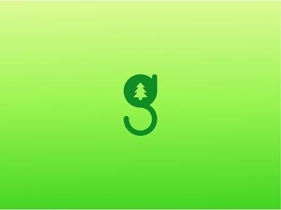 g letter g christmas tree tree green brain branding