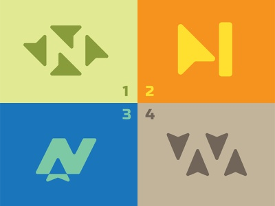 North Logo Options typography vector illustration graphic design branding icon logo lost orientation compass direction west east south northward north