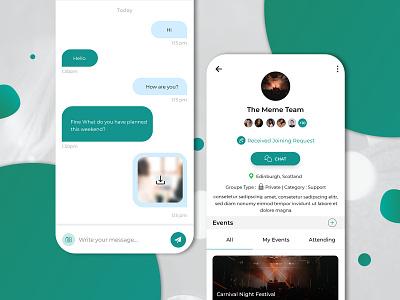 UI/UX Design for Dating Mobile App chat networking app design dating app uiux app uiux uiuxdesign dating app design datingapp dating app dating mobile app design