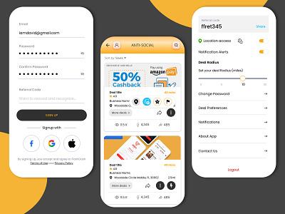 App Concept for Finding The Best Local Deals localization local business app local business app design for local deals mobile app design ecommerce app ui uiuxdesign app design