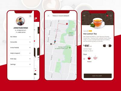 Coffee and Tea Ordering App UI. coffee app coffee order app app uiux uiuxdesign app design