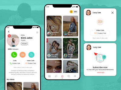 Interactive Dating App Design dating application datingapp dating app design app ui illustration mobile app design mobile app app uiux uiuxdesign app design