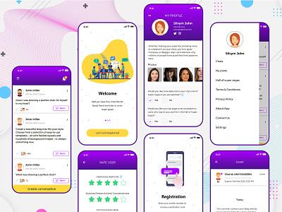 Interest Based Chat Application interest based chat app chat app uiux chat app design app uiux dating app design mobile app design app ui app design uiuxdesign