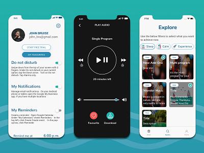 Music Streaming Application UI/UX Design online music app mobile app uiux music streaming app design music mobile app app uiux app design music app design