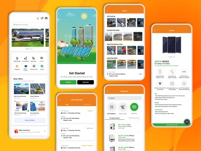 Solar Panel Cleaning and Maintenance Services Mobile App design mobile app design app uiux uiuxdesign solar panel cleaning app design solar app design solar panels cleaning app design app design