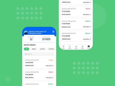 Mobile app design for order management app uiux app for order management app app design order management app order management mobile app uiux order management app design ui