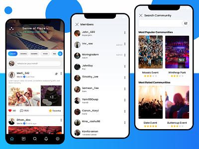 Application for online membership community app uiux app design online community membership community app uiux online membership community app online community app design
