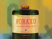 Boraxo textures typography boraxo coronavirus covid19 medicine borax painting procreate vintage antique packaging illustration
