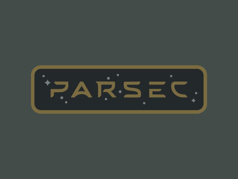 Parsec Bicycles technology nasa futuristic aeronautics space wordmark badge bicycle cycling parsec typography logo branding