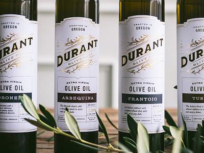 Durant Olive Oil food photography olives gold foil gourmet artisan olive oil durant oregon packaging gold food logo typography branding