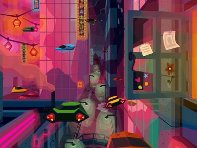 Future City illustration city cityscape futurism
