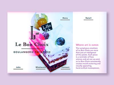 Le Bon Choix dessert redesign design concept web design website