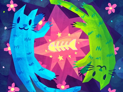 Catz cats in space space fish cats