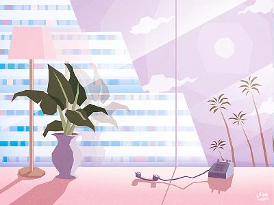 Pastel Paradise aesthetic vaporwave 90s 80s retro paradise luxury pastel