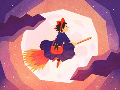 Kiki's Delivery Service kidlit magic witches illustration kiki kikis delivery service ghibli studio ghibli