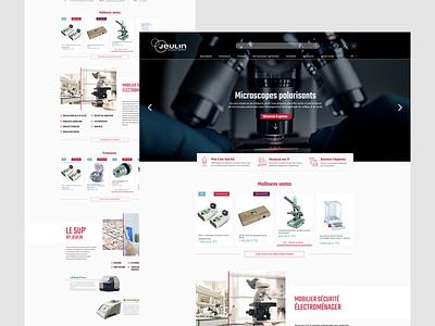 Jeulin redesign corporate asymmetric landing page webdesign uidesign