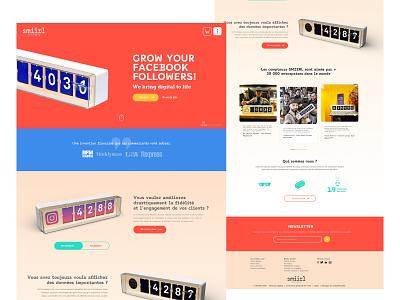 Smiirl Social Media Counters uidesign homepage productpage colorful ui creative landingpage counter socialmedia