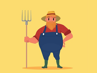 Characterdesign agriculture illustrator characterdesign vector flatdesign peasant