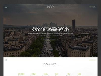 Agence INDP digital strategy creative paris artdirection onepage uidesign web agency