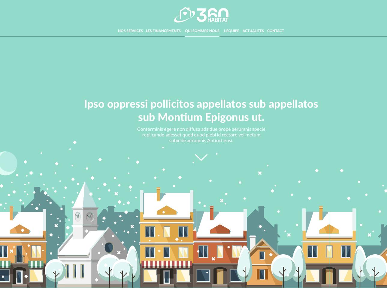 360 Habitat onepage illustration vector landing page